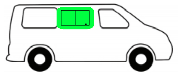 Mercedez Benz crafter schuifraam rechts